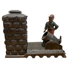 Cast Iron Artillery Bank by J. & E. Stevens Co.