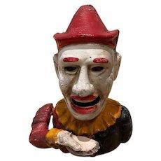 "Cast Iron ""Humpty Dumpty"" Mechanical Clown Bank"