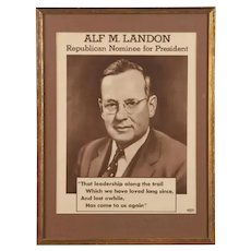 Landon for President poster from 1936 campaign
