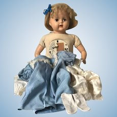 Vintage 1930's Talking Mechanical Wind Up Schilling Baby Doll