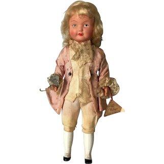 "Vintage Austrian Costume Celluloid Helga Doll 9"" Made In Austria"