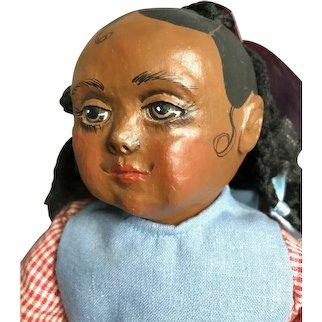 Rare Hand painted Sue Johnson 1992 Black Americana Handmade Doll LE 79/300