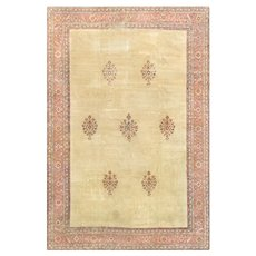 1940s Shabby Chic Vintage Turkish Rug - 12' X 18'