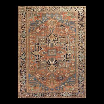 Antique Persian Heriz Rug circa 1900 9' x 11'9
