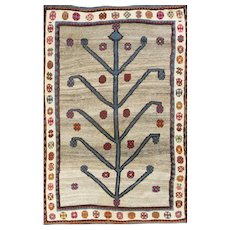 Vintage Persian Gabbeh Rug 4'8 x 7'9