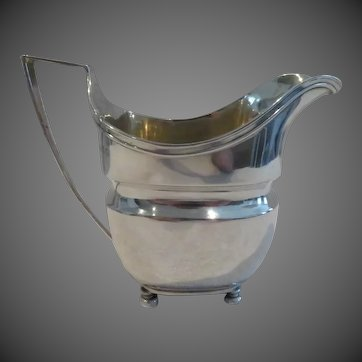 Early 19th c George 3 English sterling silver (925) creamer London 1807 John Emes