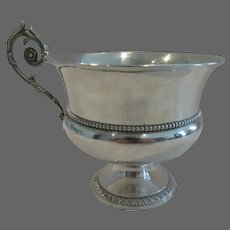 Gorgeous early 19th c French sterling silver Vieillard mark chocolate cup empire st 238g
