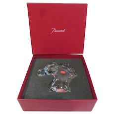 Beautiful vintage french crystal boxed horse head figurine Baccarat