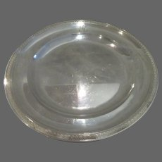 Early 19th c french 950 silver round platter empire st 1809-1819 Paris