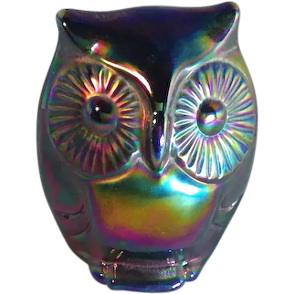 Fenton Carnival Glass Owl