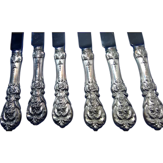 Reed and Barton Sterling Silver Knives, Francis I