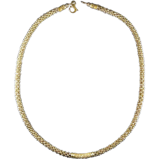 Lagos Caviar Sterling Silver 18kt Gold and Diamonds Necklace