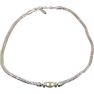John Hardy Sterling Silver and 22kt Gold Necklace