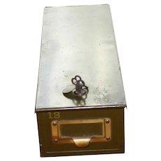 Vintage Bank Deposit Box
