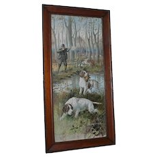 20th century Spiegle Hunting print.