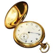 Antique 1882 Elgin Pocket Watch 14k Yellow Gold Hand Wind Operational