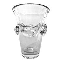 Daum Crystal Vase - Nancy France - Circa 1950