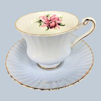LOVELY Vintage PARAGON Teacup and Saucer,ORCHID Flower Pattern,English Bone China,Cup and Saucer, Collectible Teacups