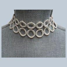 UNIQUE Antique Collar or Lace Applique,Victorian Edwardian Fashion,Antique Lace,Dolls ,Wedding Gowns,Decorative Lace,Embellishment Lace,Collectible Lace