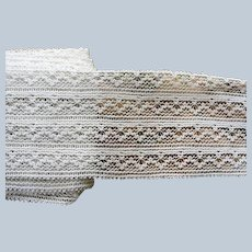 LOVELY Antique French Lace Cotton Trim Delicate Pattern Ideal For Dolls,Baby Bonnets,Christening Gowns,Bridal Dress,Wedding Heirloom Sewing