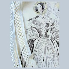 Vintage DAINTY TRIM,Pretty Pattern,24 Inches Length,For Baby Clothes,Bonnets, Dolls,Pillows,Vintage Clothing, Collectible Lace Trims