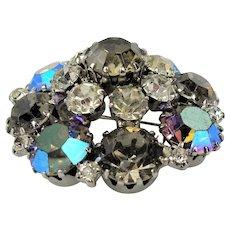 GLITTERING WEISS Glass Rhinestone Brooch,Prong Set,Brilliant Rhinestones,Dazzling Swarovski Crystal,Mid Century Jewelry,Collectible Vintage Jewelry