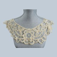 BEAUTIFUL Victorian French Lace Collar,Hand Made Lace,Victorian Edwardian Lace,Antique Bridal Lace,Collectible Lace Collars