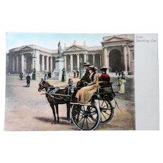 LOVELY Antique Postcard,IRISH Jaunting Car,Colorful Postcard,St Patricks,Collectible Postcards