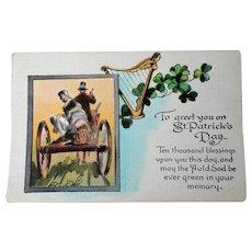ANTIQUE St.Patrick's Day Postcard,Colorful Postcard, St Patricks Day Greeting Card, Collectible Vintage Postcards