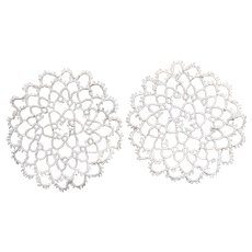 CHARMING Vintage Hand Tatted Lace Doilies,Pair of Small Doilies,Tatting Lace Doily,Collectible Doilies