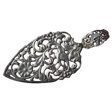VINTAGE Silver Ornate Cake Pastry Server,Floral Pattern,Openwork,Filigree Silver,Unique Wedding Gift,French Chateau Decor,Collectible Silver