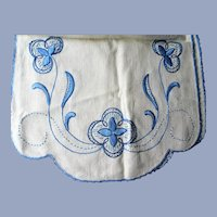 FABULOUS Arts and Crafts Embroidered Linen Table Cover Centerpiece, Mission, Craftsman Table Centerpiece Mat,Runner,Collectible Linens