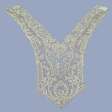 ANTIQUE French Lace Ladies Lovely Collar,Intricate Floral Lace,Mixed Lace,Embroidery,Downton Abbey Great Gatsby Flapper Bridal Gown Lace