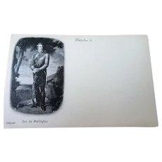ANTIQUE Postcard,Duc de Wellington, Battle of Waterloo Souvenir,French Postcard,Never Used,Undivided,Frame It,Chateau Decor,French Decor