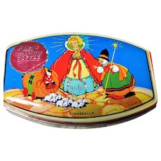 Vintage 1930s RILEYs Tin Box,CINDERELLA,Toffee Tin,British Candy,English Tin Box,Cute Decorative Tin,Collectible Tins
