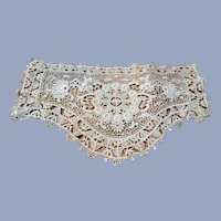 BEAUTIFUL Large Lace Applique,Victorian Edwardian Fashions,Antique Lace,Wedding Gown,Decorative Lace,Embellishment Lace,Collectible Lace