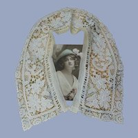 ANTIQUE French Lace Collar,Mixed French Lace,Flapper Gatsby Bridal Laces,Vintage Clothing,Collectible Lace