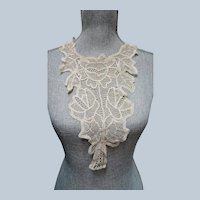 LOVELY Victorian French Lace High Neck Collar,Hand Made Creamy White Lace,Victorian Edwardian Lace,Antique Bridal Lace,Collectible Lace