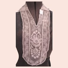 ANTIQUE LACE Collar DICKEY Suit Insert Exquisite Intricate French Tambour Embroidered Lace Bridal Vintage Clothing Flapper Downton Abbey Era