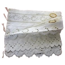 RARE Salesmans Sample Booklet,French Trim,Vintage Laces,Historical Sampler,Victorian Whitework,Edwardian Whites, Collectible Textiles,UNIQUE