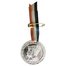 1937 CORONATION Souvenir Medal n Ribbon,George VI Queen Elizabeth May 1937,Royalty Souvenir,English Royal Memorabilia,George VI Collectibles