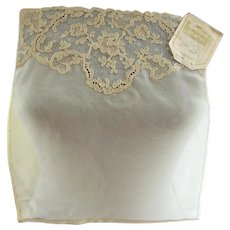 Antique FRENCH LACE Embroidered Tulle Net Lace Dickey Inset Armistice Blouse Style Downton Abbey Great Gatsby Style Bridal Vintage Clothing