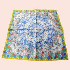 STUNNING Vintage Hanky Unusual Art Nouveau Floral Design Handkerchief ,Fine Pattern Hankie,Frame It,Collectible Vintage Hankies