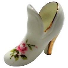 CUTE Miniature Ladies Bone China Shoe,Sweet High Heeled Porcelain Shoe,Collectible Miniature Porcelain Shoes,Vintage Miniature Knick Knacks