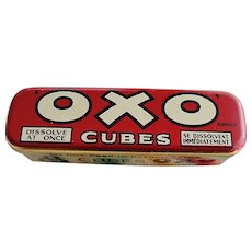 ANTIQUE Colorful OXO Cubes Tin, Decorative Vintage Tin,Farm House Decor,Exceptional Condition, Kitchen Tins,Collectible Advertising Tins