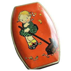 Vintage 1930s RILEYs Tin Box,Mabel Lucie Attwell,Toffee Tin,British Candy,English Tin Box,Cute Child Tin,Adorable Litho Tin,Collectible Tins