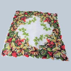 Striking Design VINTAGE 1950s Printed Hanky Handkerchief Hankie Frame It Give As Gift Collectible Hankies Colorful Hanky