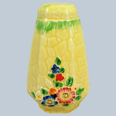 CHARMING 1930's Art Deco,Sugar Shaker,Floral Tableware, Cottage Ware, Garden Path Pattern,Colorful and Hand Painted,Collectible Crown Devon