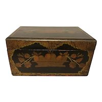 Paint Decorated Sewing Box 19c