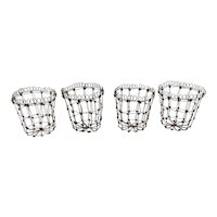 Late French Wire Work Miniature Baskets